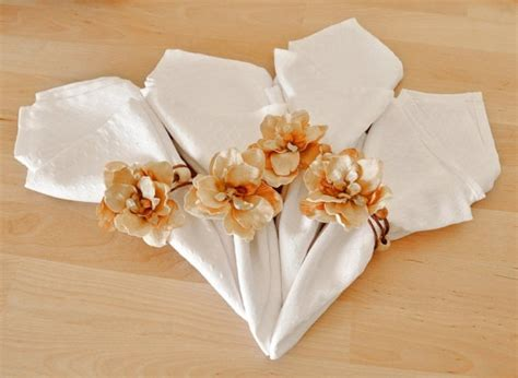 picture of creative napkin rings ideas as pretty wedding