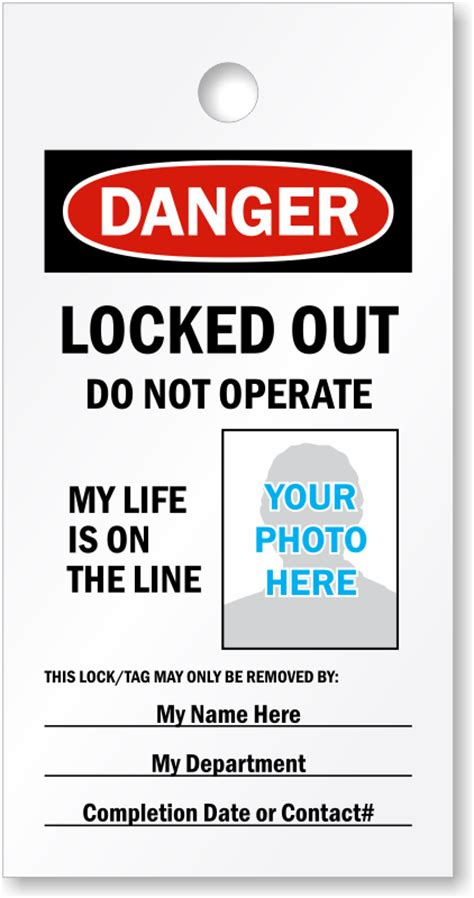 printable danger tags design and print your own lockout tags for free