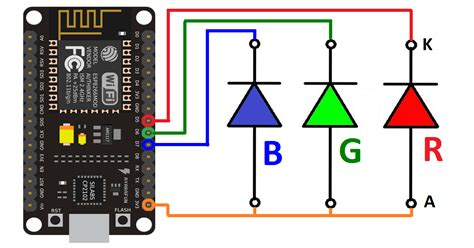 Android Arduino Control: ESP8266 WiFi Control RGBLED with
