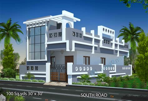 south facing house elevation designs house design ideas