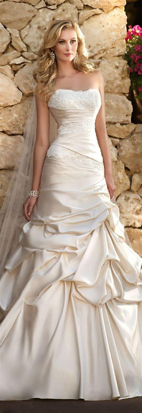 Satin Ruffles Dress satin lace cascading ruffle wedding dress magic wedding