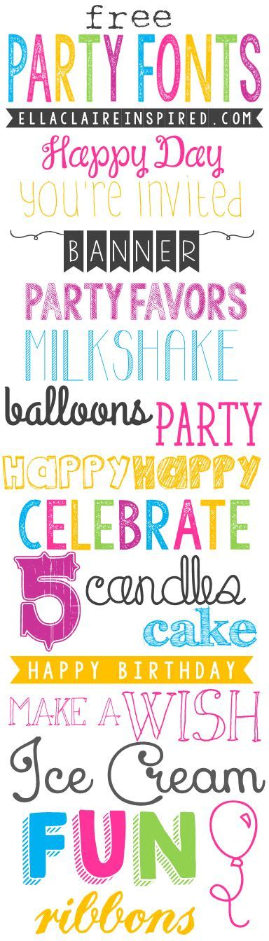 printable birthday font 346 best images about fabulous clip art fonts and