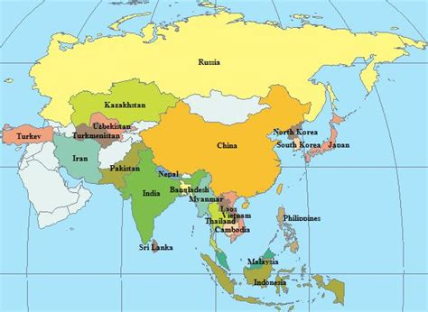 map of asia continent map of asia continent israa mi raj net