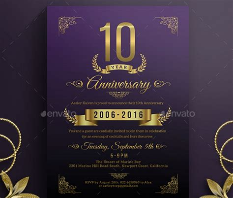 20 anniversary invitation template for wedding birthday