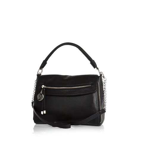 Slouch Bag by River Island Black Large Fold Slouch Bag In Black Lyst