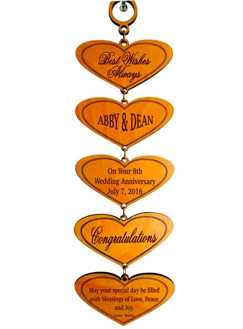 Wedding Anniversary Gift Order by 8th Wedding Anniversary Custom Gifthappy Marriage Wishes