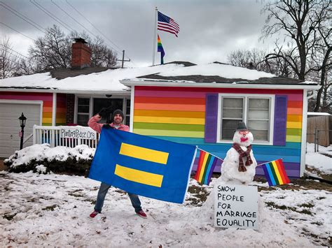 the equality house snowman supports marriage equality westboro equality house gets a visitor photo