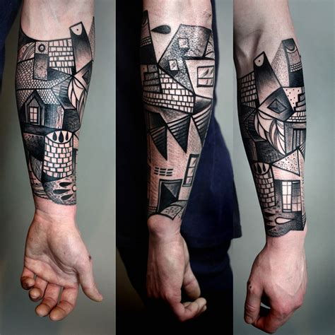 cubism tattoo the cubist inspired tattoos of berlin artist