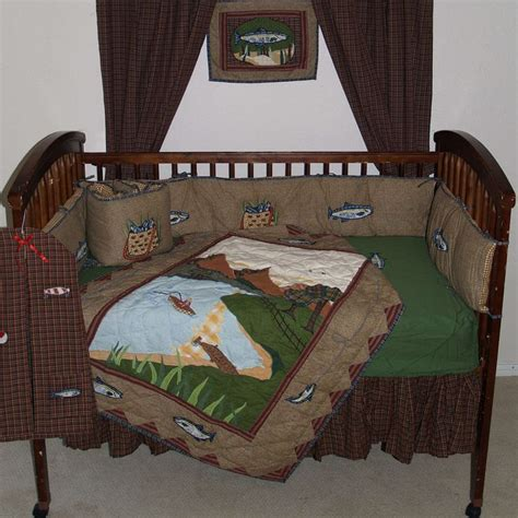 Fishing Bedding Sets Fishing King Quilt Set Log Cabin Fishing Crib Bedding