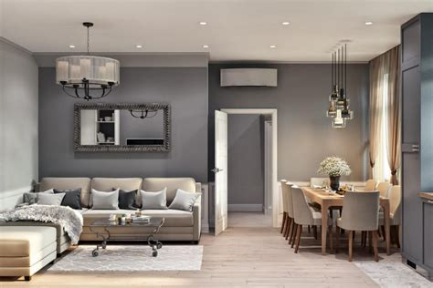 stylish mixed style townhouse  moscow suburbs home