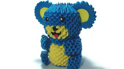 3d origami teddy bear tutorial 3d origami teddy bear tutorial youtube