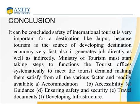 Tourism In India Essay Conclusion by Dissertation Project Report On Safety Of International