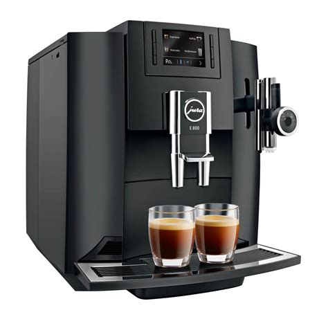 JURA E800 Piano Black Kaffeemaschine Vollautomat   nettoshop.ch
