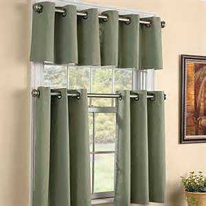 Contemporary Kitchen Curtains And Valances Grommet Kitchen Valance 15 Quot Contemporary Curtains By Improvements Catalog