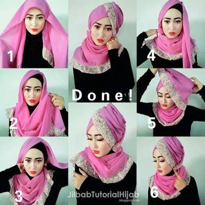 tutorial hijab pesta wardah wong jowo