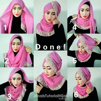 tutorial hijab segi 4 dan pasmina wong jowo