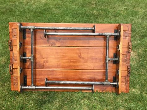 diy metal folding table legs 17 ideas about pipe table on industrial table