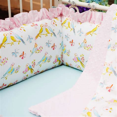 Toddler Bedding For Crib Mattress Birds Crib Bumper Carousel Designs