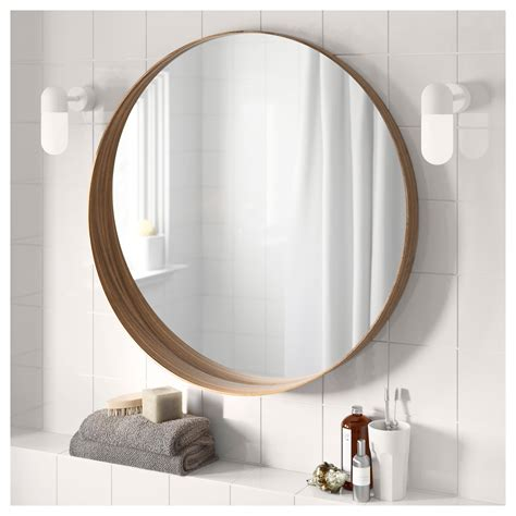 safety mirrors for bathrooms stockholm mirror walnut veneer 80 cm ikea