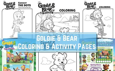 goldie bear coloring pages disney junior archives mama s mission