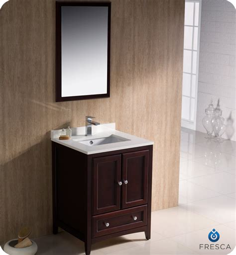 Traditional Bathroom Vanities 24 Quot Fresca Oxford Fvn2024mh Traditional Bathroom Vanity Mahogany Bathroom Vanities