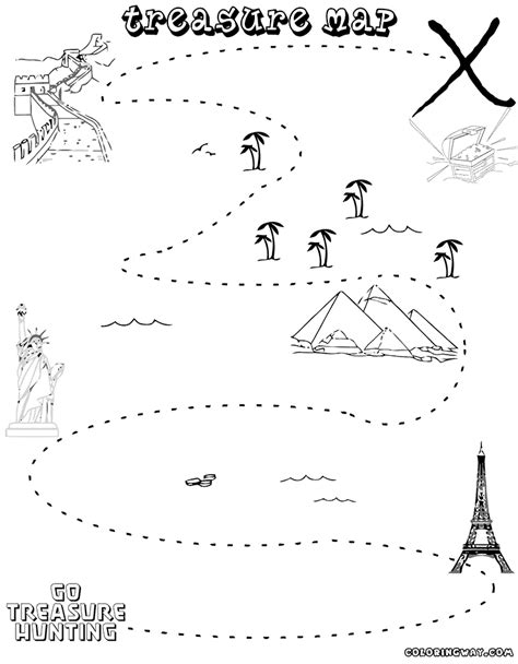 Treasure Map Coloring Pages Coloring Pages To Download Treasure Map For Coloring