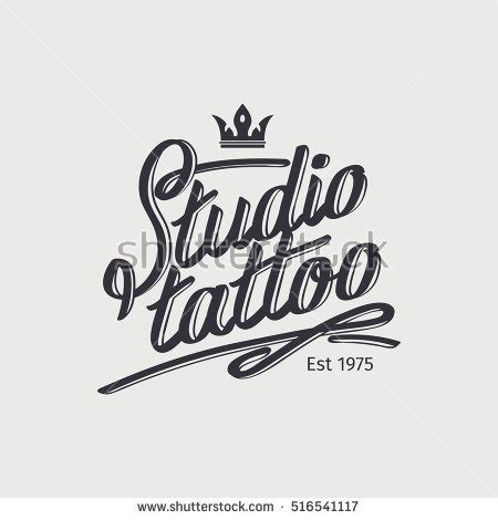 magic tattoo logo vector tattoo lettering stock images royalty free images