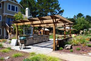 Backyard Patios And Decks by 40 Modern Pergola Designs And Outdoor Kitchen Ideas