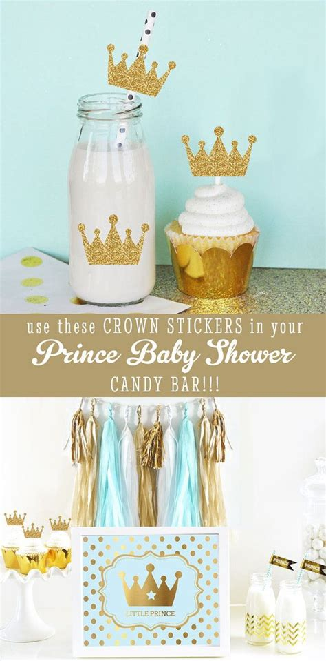 Prince Baby Shower Cupcakes by Royal Prince Baby Shower Cupcake Toppers Diy Crown Straws