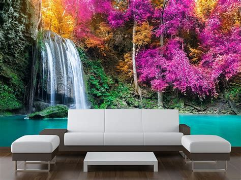 made to measure wall murals tropical waterfall wall mural made to measure wall murals