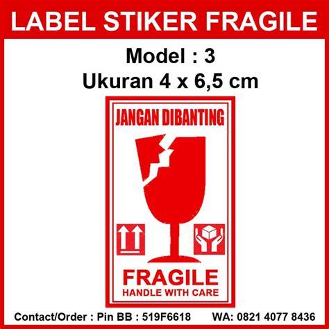 Stiker Fragile Shop Sticker Fragile Bisa Tambah Nama Toko jual sticker fragile stiker fragile untuk paket pengiriman toko unik maxi