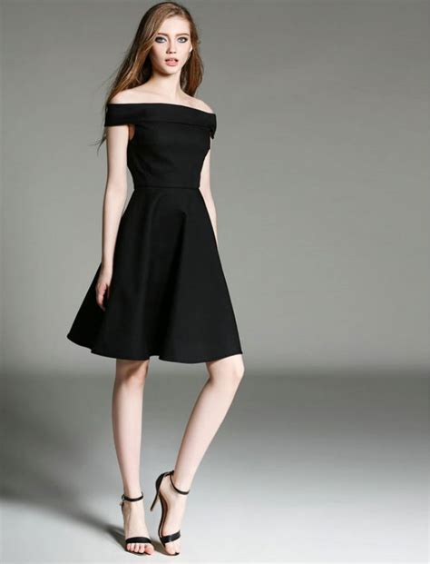 Dress Sabrina Flower Black 081514 hepburn black dress all dress