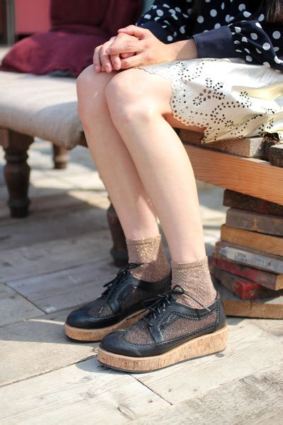 the whitepepper shoes quot net platfom brogues quot by