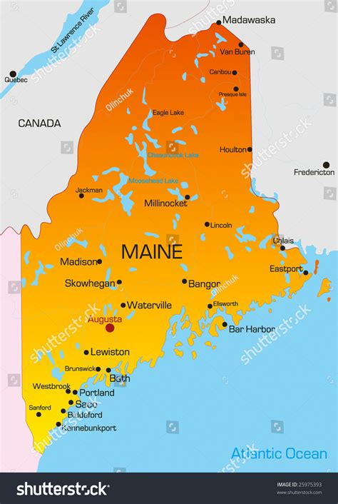 map of maine usa state of maine map my
