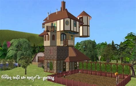 mod the sims the weasley burrow 2 versions original