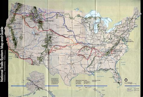 national map national trails system map united states mappery