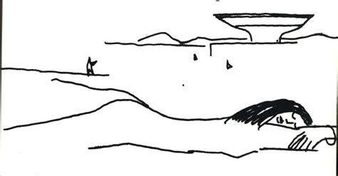 Sketches O Que é by Desenho De Niemeyer Em Nanquim Sobre Papel Branco Mostra