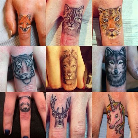 animal finger tattoos best 25 finger tattoos ideas on do