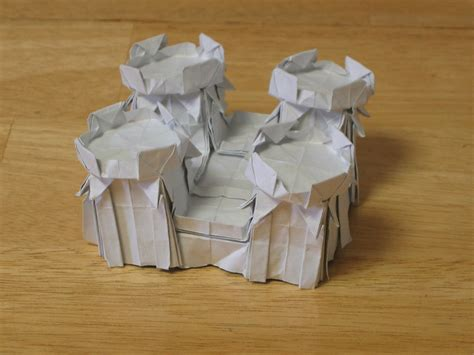 How To Make A Origami Castle - origami castle explorations zing