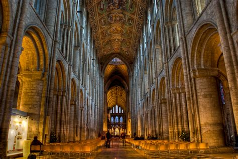 Galaxy Lighting Looking Down The Nave At Ely Cathedral Photography By