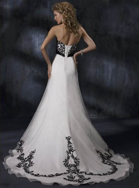 Black And White Wedding Dresses by Black And White Wedding Dress Decoration Designs Wedding