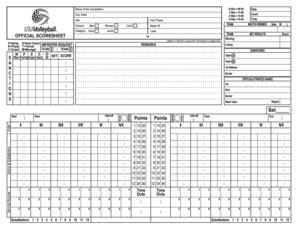 printable usa volleyball score sheets usa volleyball score sheet forms and templates fillable