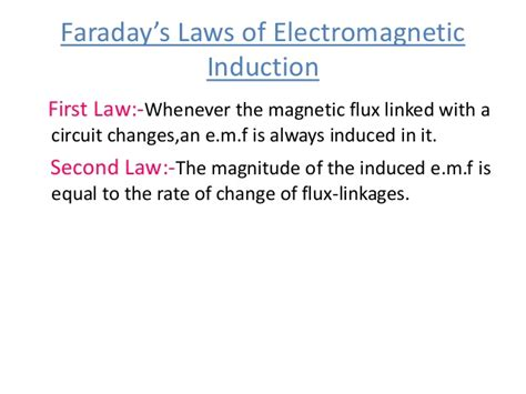 third principle of induction faraday s s and its applications