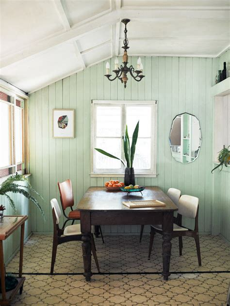 Green Dining Room Morris Runway To Color Palette Mint Green Bhg Style Spotters