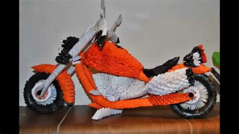 How To Make A Paper Motorbike - origami 3d filippo harley davidson