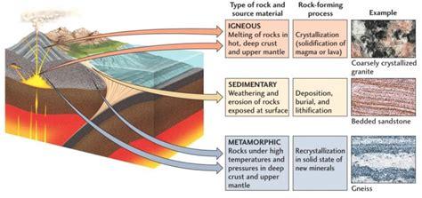 types of rocks the rock cycle learn the types of rocks minerals