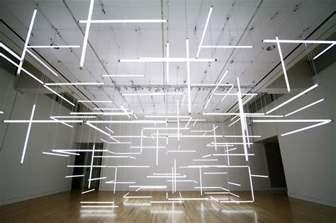 a geometric labyrinth of 200 fluorescent lights at frye