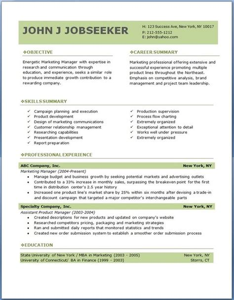 Download Resume Examples. Resume Examples Word Format Good