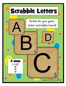 printable letters bulletin boards scrabble letters july 4th free games and leap years