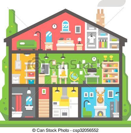 disegno interno casa appartamento disegno interno casa vista laterale